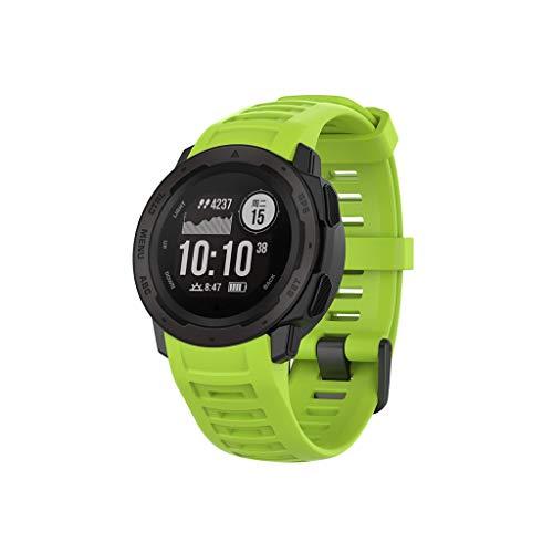 گروههای ساعت تماشای رنگی نرم و نرم Yukukai ، دسته بندهای رنگی نرم و سیلیکونی مخصوص Garmin Instinct ، تسمه قابل تنظیم جهانی برای مردان Garmin Instinct SmartWatch (سبز)
