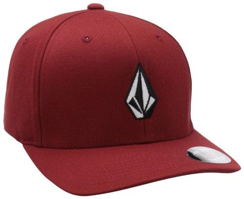 Volcom Volcom Full Stone - Volcom Men's Full Stone Xfit Hat, Crimson,Large/X-Large