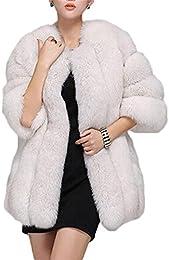 Amazon.com: White - Fur &amp Faux Fur / Coats Jackets &amp Vests
