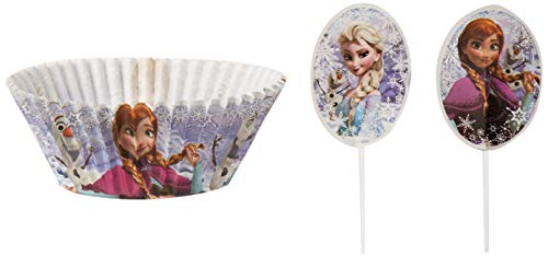 Wilton 415-4501 FROZEN CUP PICK COMBO 24CT    Assorted Cupcake Light -
