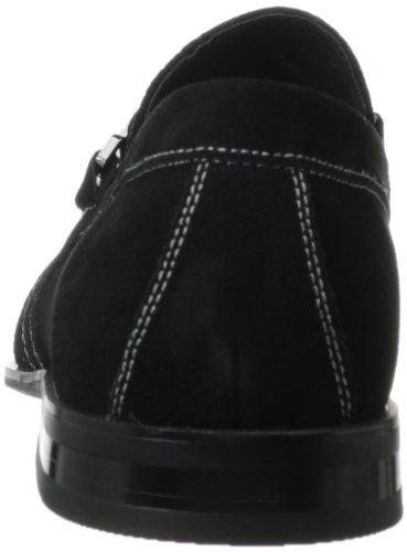 Stacy Adams Mens Carville Slip-on Loafer Svart Mocka