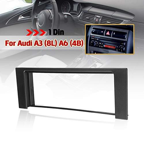 Iris-Shop - 1 Din Car Fascia Stereo Audio Radio Plate Panel Dash Frame Fascias For Audi A3 8L A6 4B Fiat Scudo For Seat Toledo Leon
