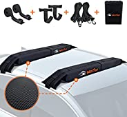MeeFar Universal Car Soft Roof Rack Pads Luggage Carrier System for Kayak Surfboard SUP Canoe Include 2 Heavy