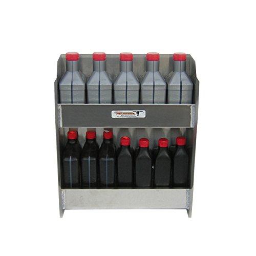 Pit Posse 469 Silver Junior Oil Cabinet Enclosed Race Trailer Shop Garage Storage Organizer