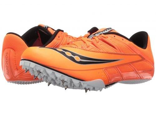どこかマットレス弾薬Saucony(サッカニー) メンズ 男性用 シューズ 靴 スニーカー 運動靴 Spitfire 4 - Orange/Black [並行輸入品]