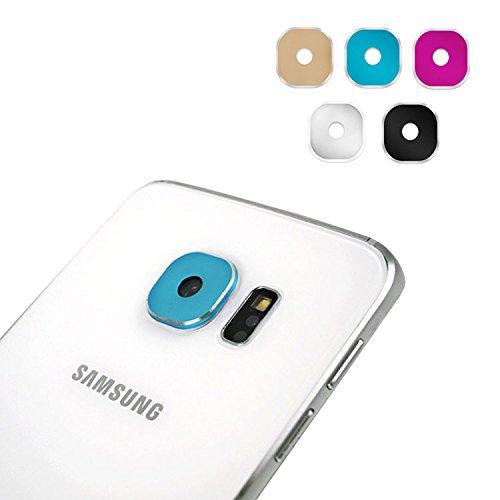 """5 Stück Leathlux Für Galaxy S6 Edge Plus Kamera Schutz , Bunt Colorful Metall Kameraschutz Schutz Ring Objektiv Für Samsung Galaxy S6 Edge Plus (5.7"""") In 5 Colors ( Schwarz Pink Rose Silber Golden Bla"""