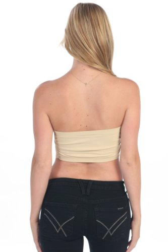 406ac3096a Lace Bandeau Tube Top Women s One Size Fits Most at Amazon Women s Clothing  store  Base Layer Tops