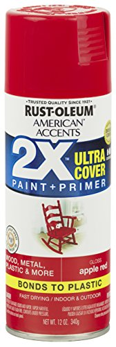 Rust-Oleum 327875 American Accents Ultra Cover 2X Gloss, Each, Apple Red -