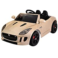 Gold Kids Ride On Car 12V Power Electric Toy MP3 RC with Remote Control