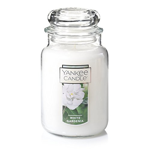 Jar Paraffin Wax Candle (Yankee Candle Large Jar Candle, White Gardenia)