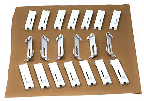 Utility Hook for Gridwall Panel Display Grid Picture Notch Set of 20 Pieces White