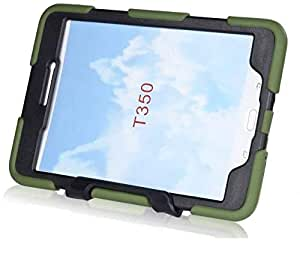 Water Shockproof Rubber Heavy Duty Hard Case Cover For Samsung Galaxy Tab 8inch Militry Green color