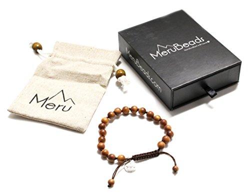 Premium Sandalwood Mala Beads Bracelet for Women - 8mm Mala Bead Bracelet Women - Women Mala Beads Bracelet Sandalwood - Wood Bracelet - Bracelet Made of Sandalwood - Vegan Bracelet - Mantra Bead Bracelet