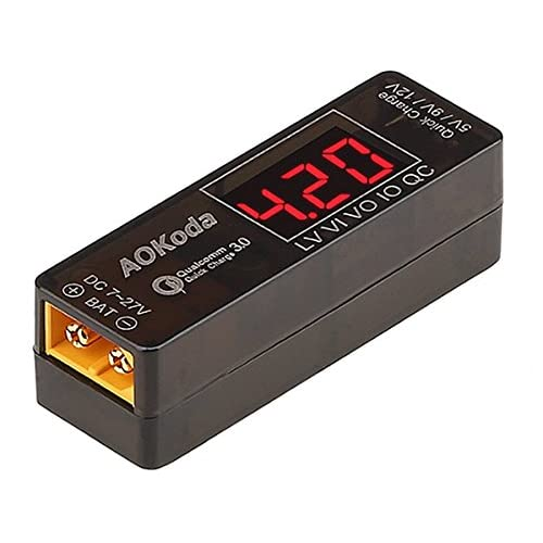 Integy RC Model Hop-ups C28074 AOKoda Lipo to USB Power Converter QC3.0 Adapter