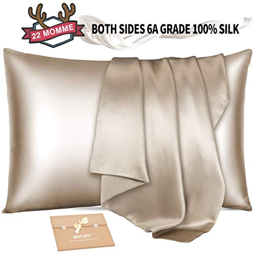 Winjoy Silk Pillowcase for Hair and Skin