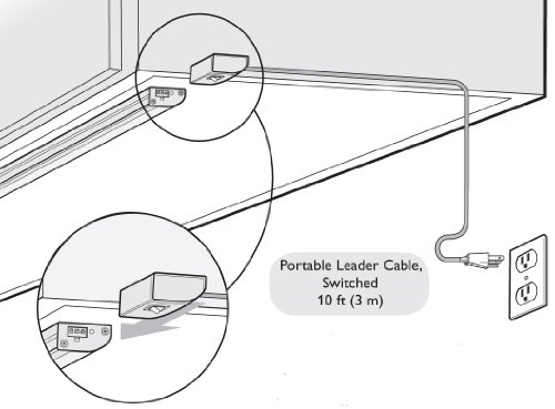 Philips Color Kinetics 10' Leader Cable For eW Profile Powercore with US Plug 108-000034-00
