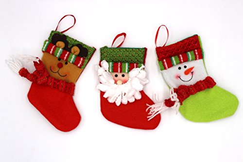 Clearance Sale - Set of 3 Classic Christmas 3D Medium Size S