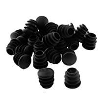 uxcell® Plastic Round Table Chair Leg Feet Tube Pipe Insert Blanking End Cap 16mm Dia 30pcs Black