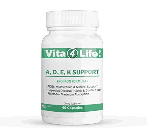 Vita4life, ADEK Support, No Iron - 60 Count