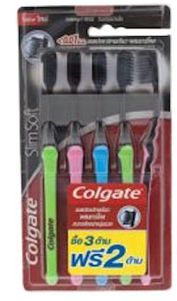 Colgate Ultra Soft Charcoal Bristles Toothbrush Slim Soft Co