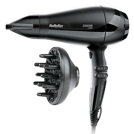 BaByliss 6634E 2000W Negro secador - Secador de pelo (Corriente alterna, Negro, Con