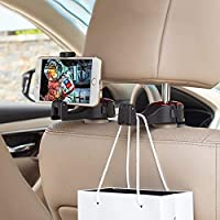 Car Hooks, Upgrade Car Seat Hooks for Purses and Bags with Phone Holder, Universal Automative Headrest Purse Handbag…