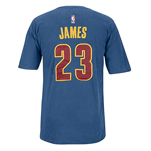 Pigment Number (LeBron James Cleveland Cavaliers NBA Adidas Men Blue Player Name & Number Pigment Dye Jersey T-Shirt (XL))