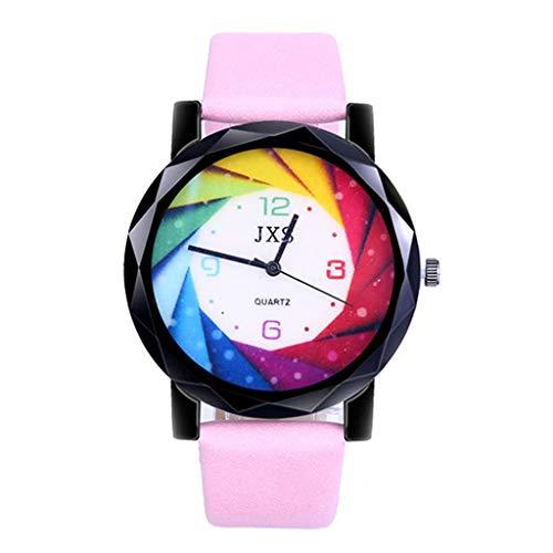 Wrist Watches, LuluZanm Women Fashion Luxury Leisure Set Auger Leather Steel Quartz Watch