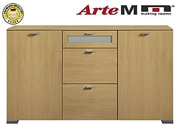 Arte M Sideboard Kommode 2 Turig Mit Schubkasten 462360 Buche