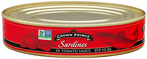 - Crown Prince Sardines in Tomato Sauce, 15-Ounce Cans (Pack of 12)
