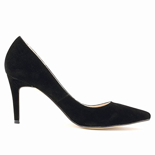Custom Suede Made Black Dress Slip Renly Pumps Bridesmaid Womens On Zq5TFa