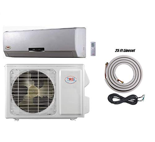 YMGI 18000 Btu 18 SEER Ductless Mini Split DC Inverter Air Conditioner Heat Pump System - 208-230 Volt with 25 Ft Kit ()