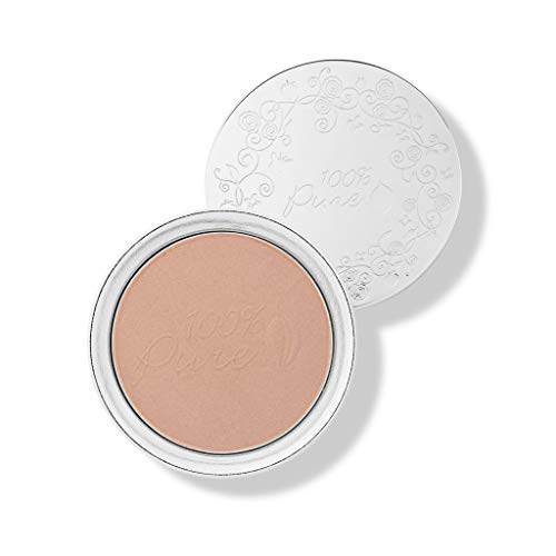 100% PURE Powder Foundation (Fruit Pigmented), Toffee, Matte Finish, Absorbs Oil, Anti-Aging, Helps Fight Acne, Natural, Vegan Makeup (Tan Shade w/Neutral Undertones) - 0.32 Oz