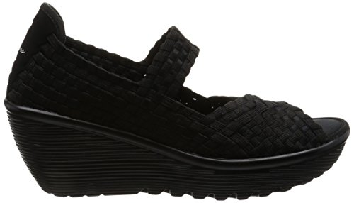 Bout Femme Sandales Parallel Midsummer's Skechers Weave Noir Ouvert Black wWRI1WPq