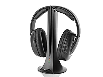 SILVERCREST 2.4GHz Wireless Stereo Headphones with FM  Amazon.co.uk ... 9ba7a01bf5b33
