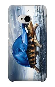 S0084 Turtle in the Rain Case Cover for HTC ONE M7