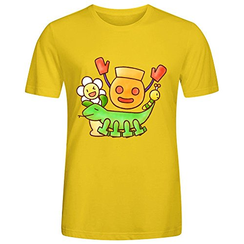 Mukage Kun And His Merry Friends Design Men Tees Yellow