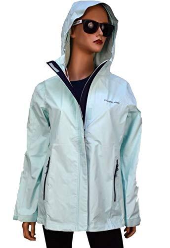 Vineyard Vines Women's Stow & Go Hooded Rain Coat Jacket Crystal Blue (Medium) from Vineyard Vines