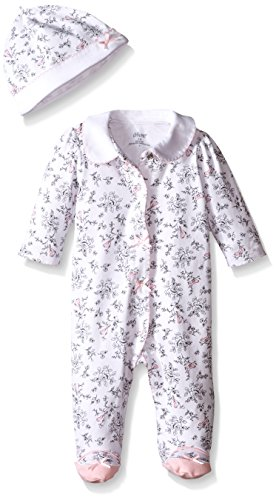 Little Me Baby Toile Footie with Hat, Bird, New Born