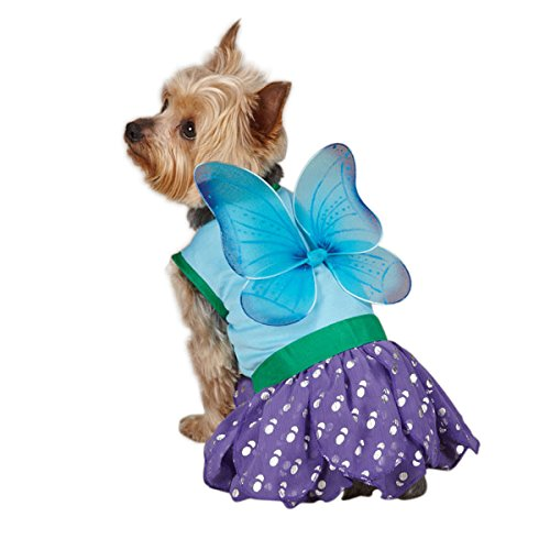 Casual Canine Polyester Woodland Fairy Dog Costume, Medium, 16-Inch, Blue -