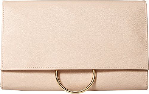 Jessica McClintock Nora Solid Large Envelope Clutch with Ring Closure, Nude