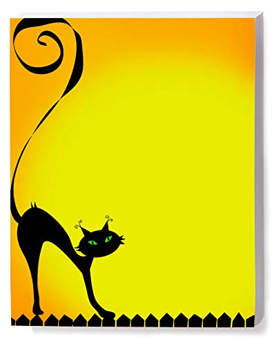 Halloween Stationery, Witchy Kitty, 8.5 x 11, 25 Count -