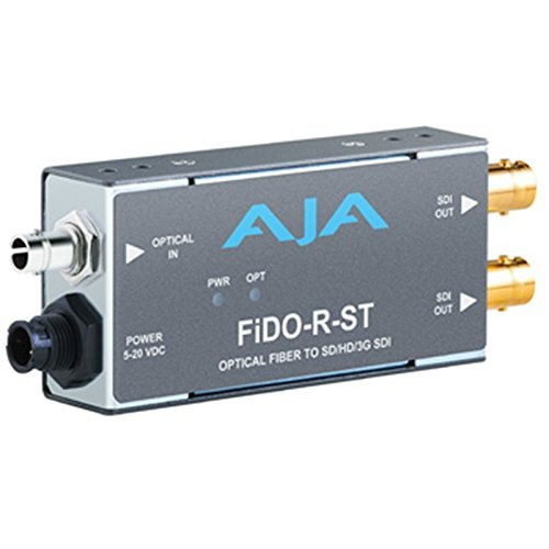 (AJA FiDO-R-ST Single Channel ST Fiber to SDI Mini Converter (FiDO-R-ST))