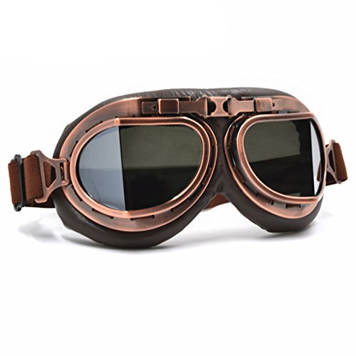 Cool Custom Motorcycle German Reflective Goggles Chrome For Women & Men Leather Indian Model 3