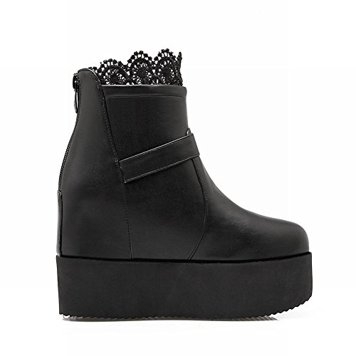 Charm Foot Womens Chic Platform High Top Western Boots Black iN3GGv
