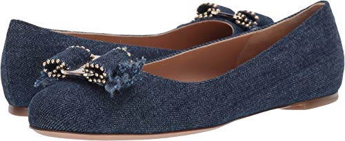 (Salvatore Ferragamo Women's Varina Jeans Navy 6 B US)