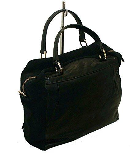BORSA IN PELLE E CAMOSCIO BYBLOS 626515 WOMAN BAGS BERLIN LEATHER BAG NERO  ... 2becb87ad8b