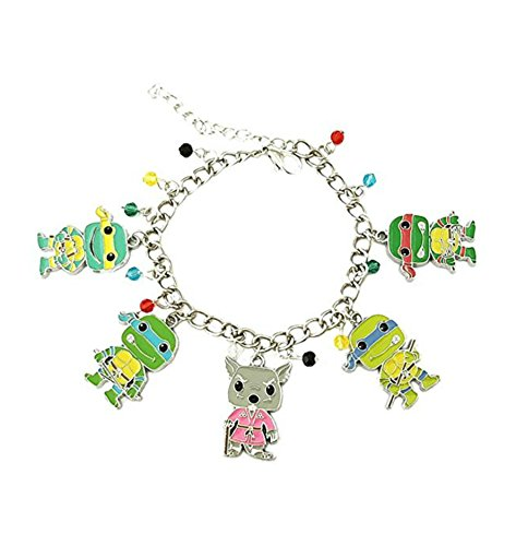 Athena Brand TMNT Ninja Turtles Charm Bracelet Quality Cosplay Jewelry Cartoon TV Series with Gift Box -