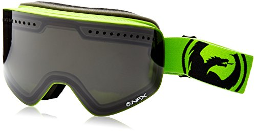 Dragon Alliance NFX Ski Goggles, Smoke/Neon Green (Dragon Neon)