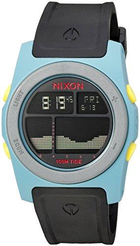 Nixon Men's 'Rhythm' Quartz Plastic and Polyurethane Automatic Watch, Color:Black (Model: A3852004-00)